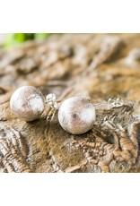 Balaam Design Brushed Ball Earrings