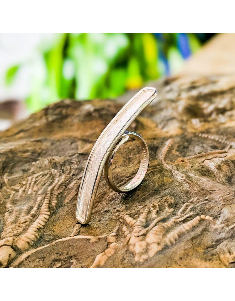 Balaam Design Brushed Bar Ring