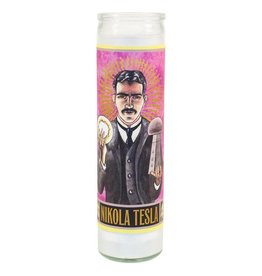 The Unemployed Philosophers Guild Nikola Tesla Secular Saint Candle