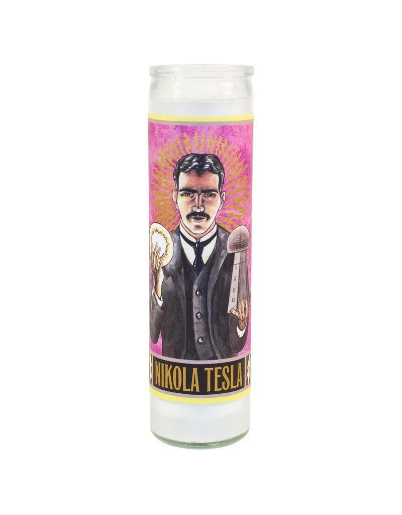 Nikola Tesla Secular Saint Candle
