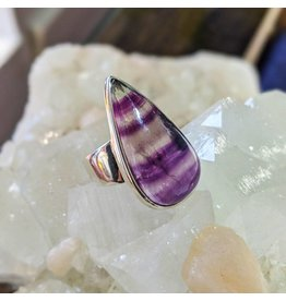 Mystic Earth Gems Banded Amethyst Ring 6