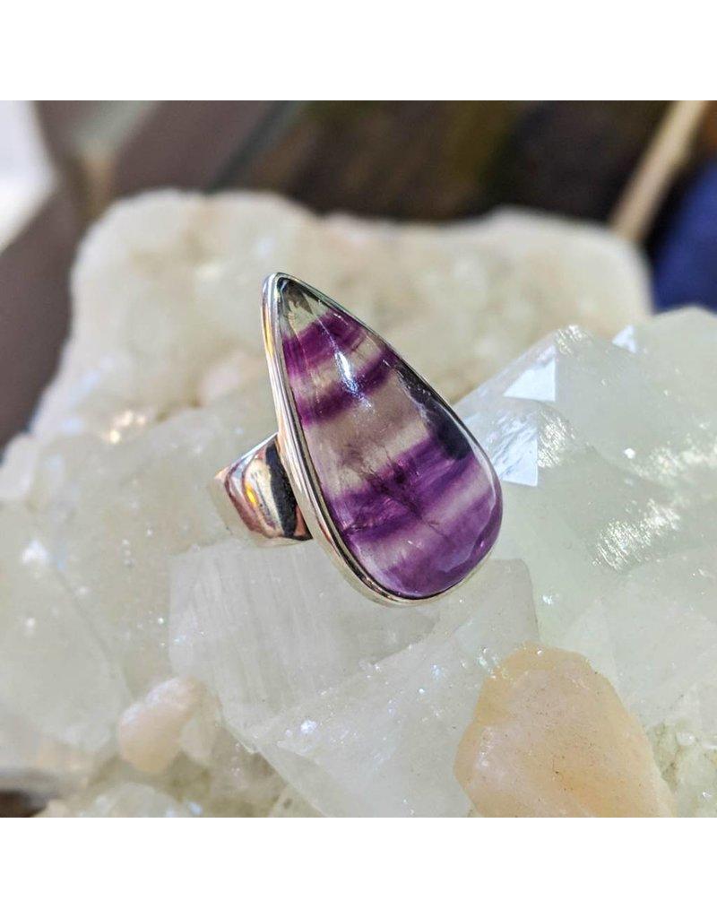 Mystic Earth Gems Banded Amethyst Ring 6