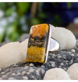 Mystic Earth Gems Bumble Bee Jasper Ring 6