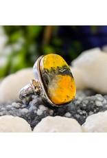 Bumble Bee Jasper Ring 6.5