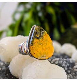 Bumble Bee Jasper Ring 7