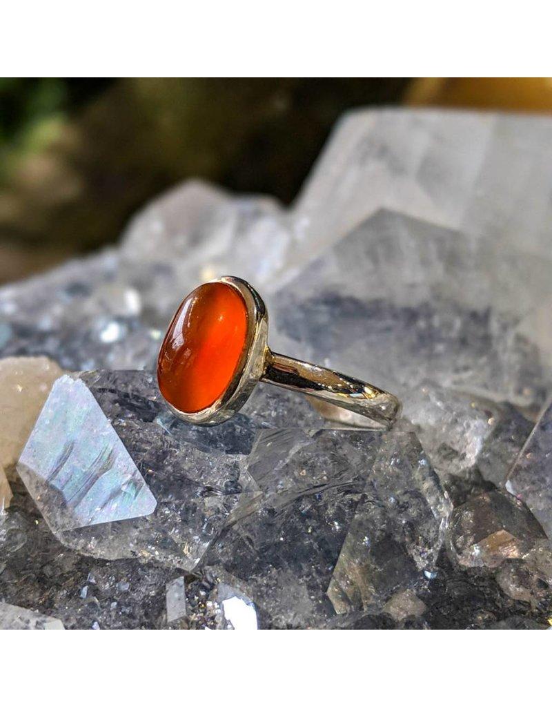 Mystic Earth Gems Carnelian Ring 6.5