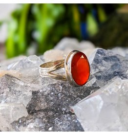 Mystic Earth Gems Carnelian Ring 6.5