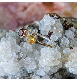 Garnet Citrine Ring