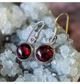 Mystic Earth Gems Garnet Earrings