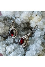 Mystic Earth Gems Garnet Earrings