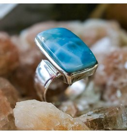 Mystic Earth Gems Larimar Ring 10