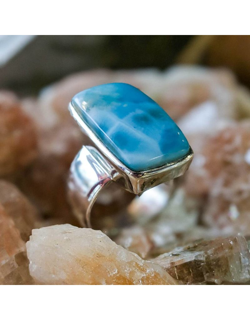 Mystic Earth Gems Larimar Ring 10