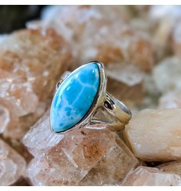 Mystic Earth Gems Larimar Ring 7.5