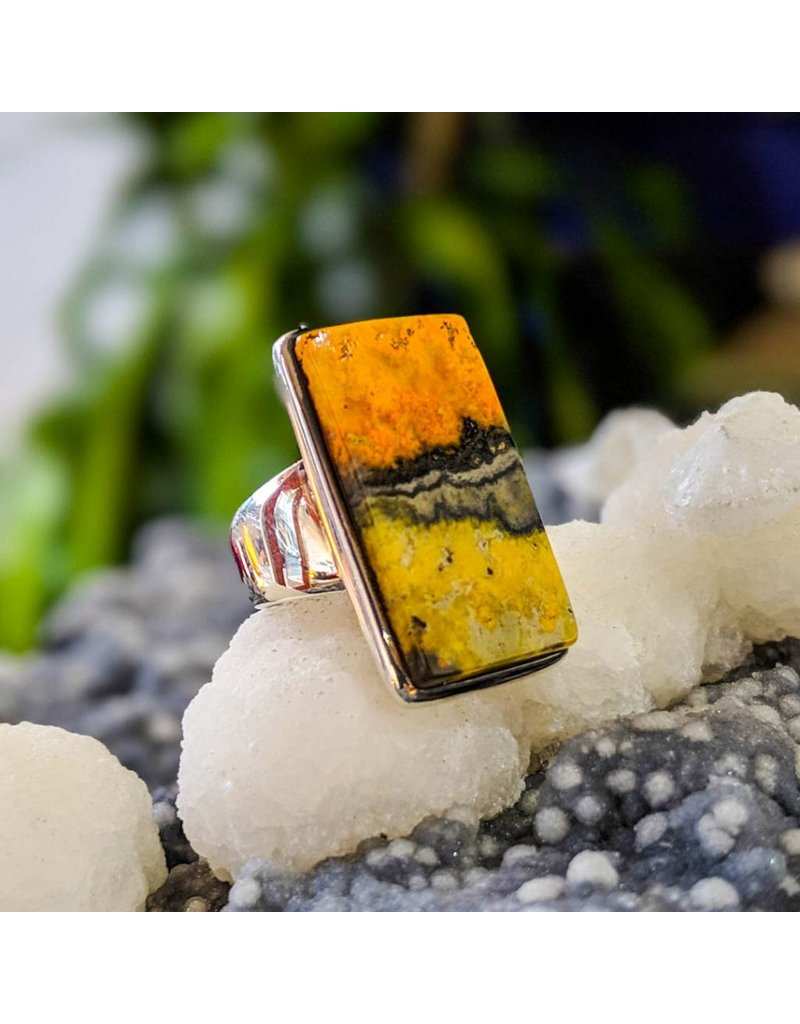 Mystic Earth Gems Bumble Bee Jasper Ring 5