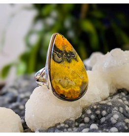 Mystic Earth Gems Bumble Bee Jasper Ring 6