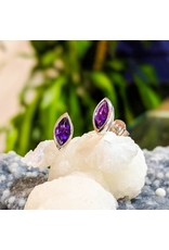 Sanchi and Filia P Designs Amethyst Stud Earrings 8x4mm