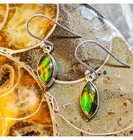 Sanchi and Filia P Designs Ammolite Triplet Earrings