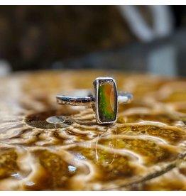 Ammolite Triplet Ring 7