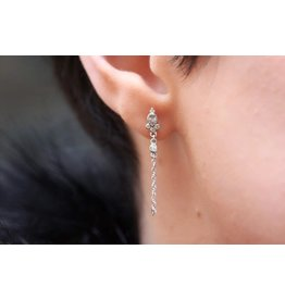 Ambica New York Cubic Zirconia Chain Drop Earrings