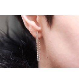 Ambica New York Minimal Chain Drop Earrings
