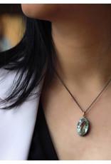 Ambica New York Prasiolite Pendant with Chain 40cm