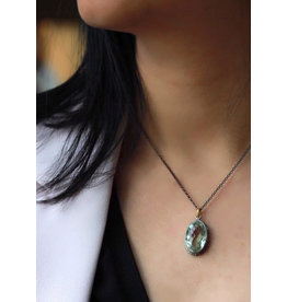 Ambica New York Prasiolite Pendant with Chain 40cm