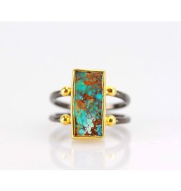 Ambica New York Turquoise Ring 7