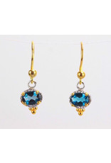 Ambica New York London Blue Topaz Earrings