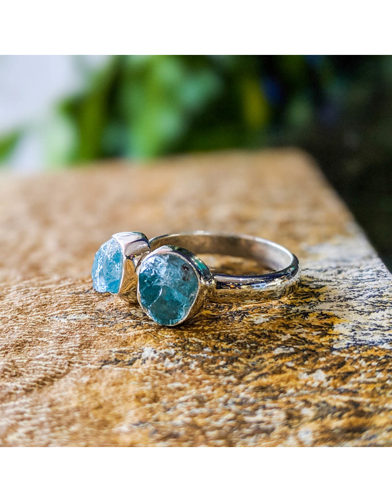 Sanchi and Filia P Designs Double Apatite Ring