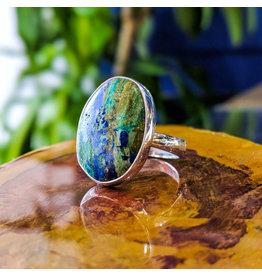 Sanchi and Filia P Designs Azurite Malachite Ring
