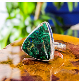 Malachite Azurite Ring