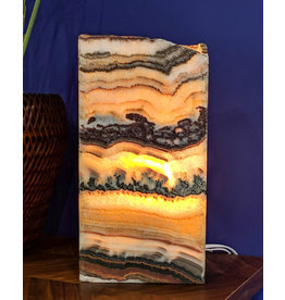 Serpentine Onyx Lamp 35x20x10cm Mexico