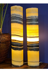 Zebra Mexican Onyx Lamp