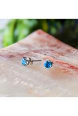 Sanchi and Filia P Designs Blue Topaz Stud Earrings 4mm