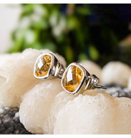Citrine Stud Earrings 10mm