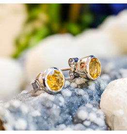 Citrine Stud Earrings 5mm