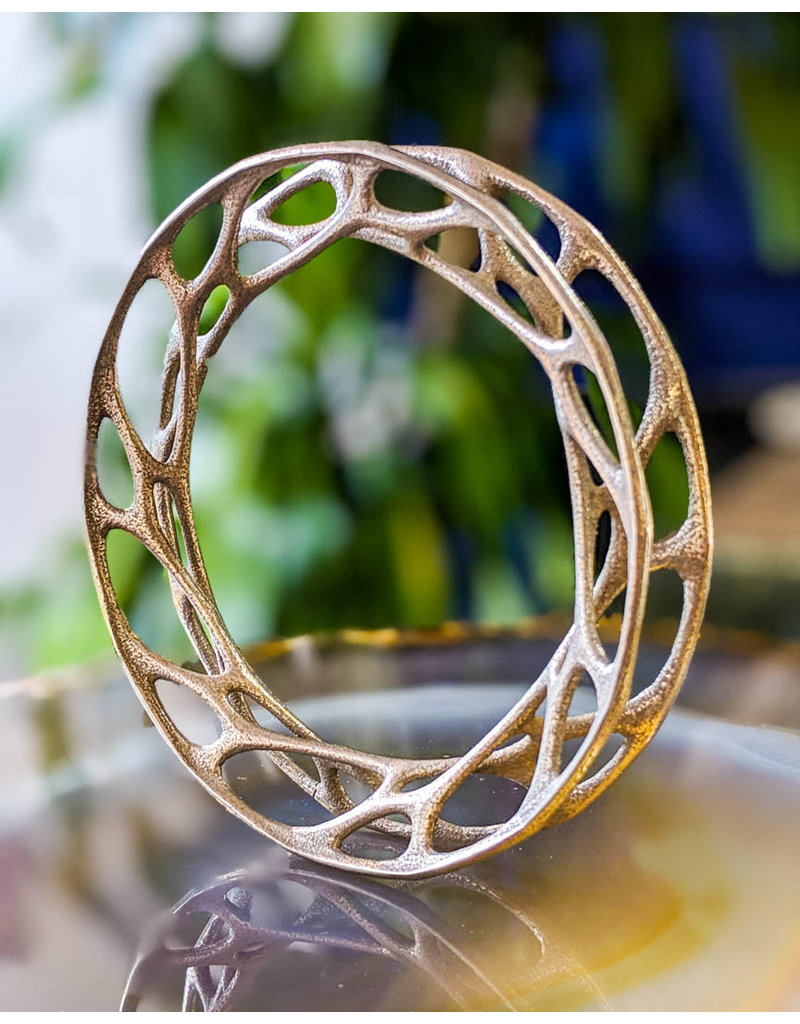Nervous System Cell Cycle Convolution Stainless Steel Bangle Bracelet