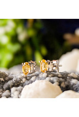 Sanchi and Filia P Designs Citrine Stud Earrings 6x4mm