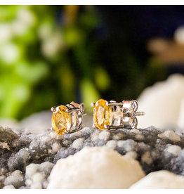 Sanchi and Filia P Designs Citrine Stud Earrings 6x4mm
