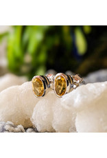 Sanchi and Filia P Designs Citrine Stud Earrings 7x5mm