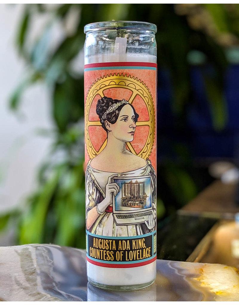 The Unemployed Philosophers Guild Ada Lovelace Secular Saint Candle