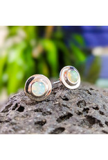 Ethiopian Welo Opal Stud Earrings 10mm
