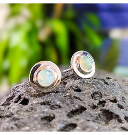 Ethiopian Welo Opal Stud Earrings 10mm