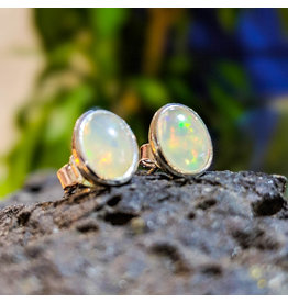 Ethiopian Welo Opal Stud Earrings 10x8mm