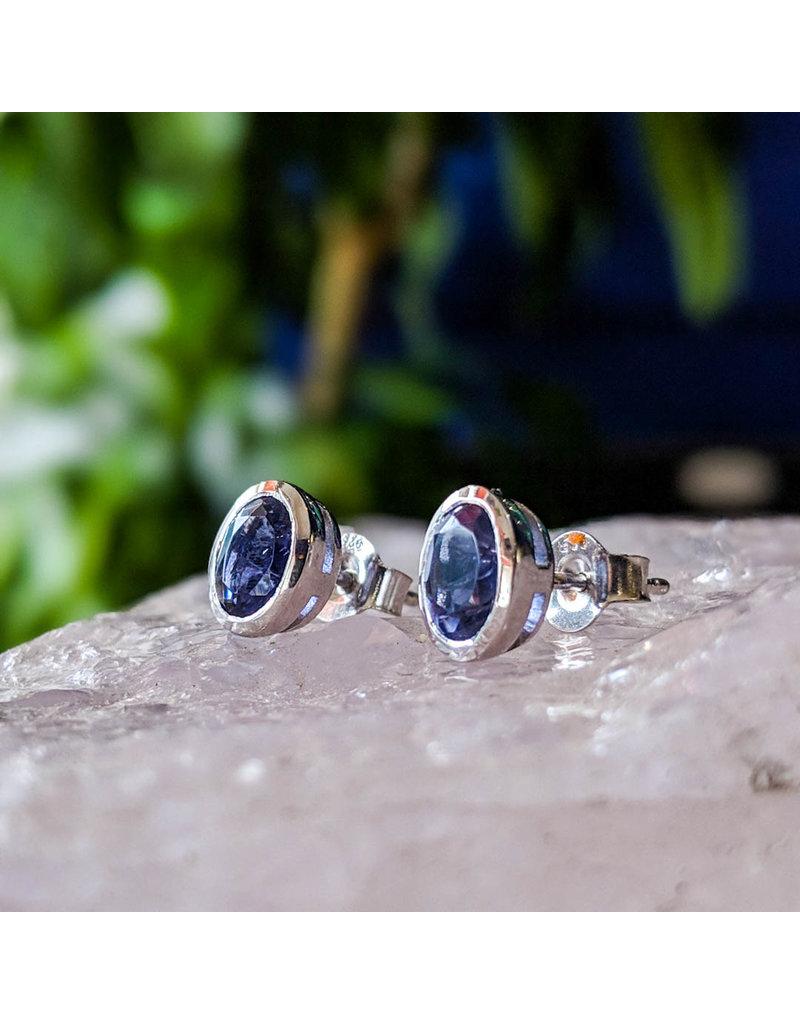 Sanchi and Filia P Designs Iolite Stud Earrings 7x4mm