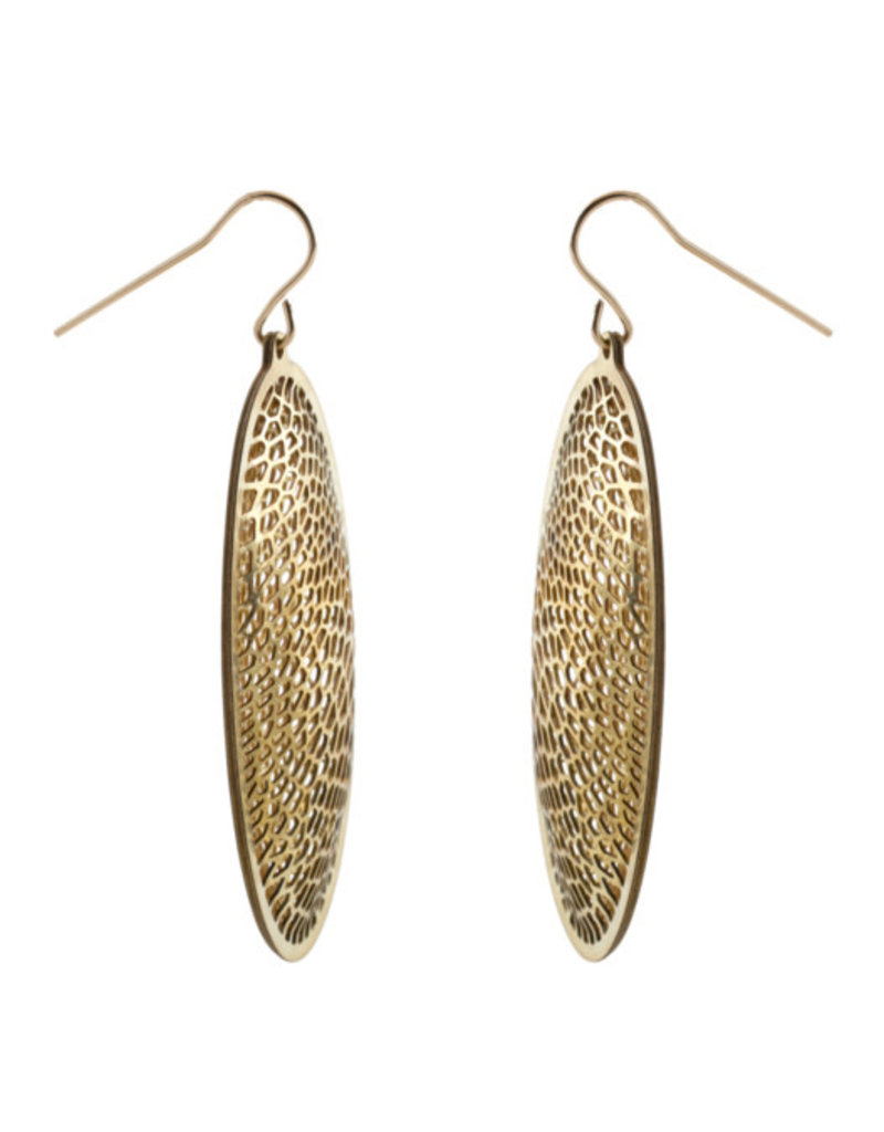 Nervous System Corollaria Capsule Brass Earrings