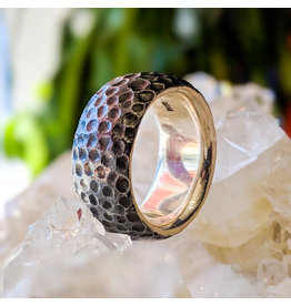 Bora Jewelry Hammered Oxidized Ring 8.5