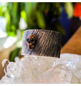 Bora Jewelry Black Onyx Bronze Skull Ring 9