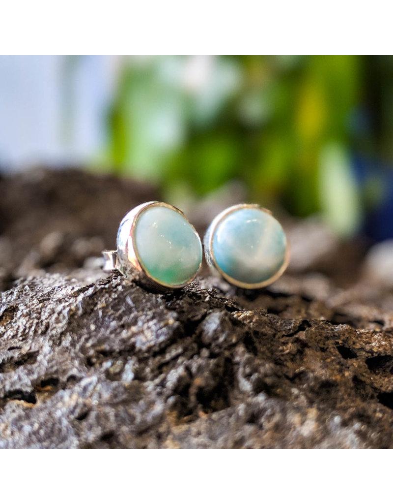 Sanchi and Filia P Designs Larimar Stud Earrings 8mm