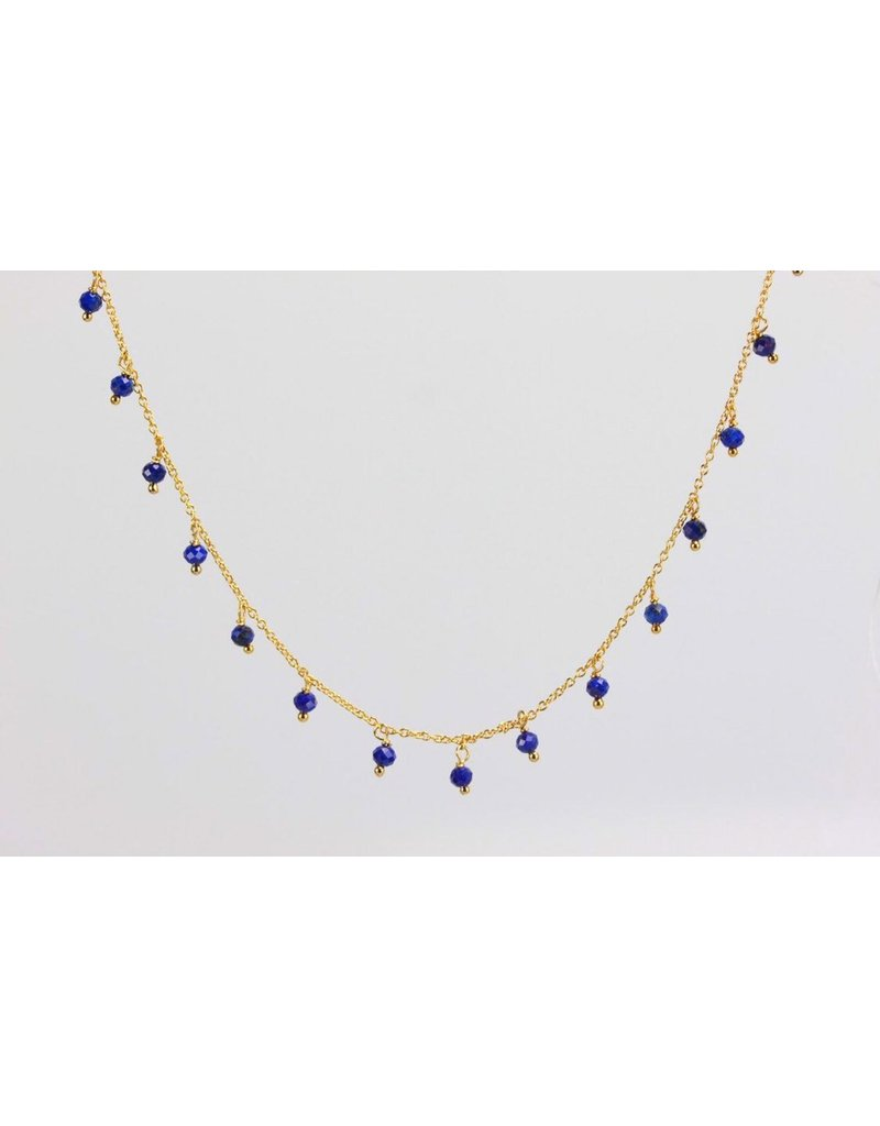 Ambica New York Lapis Lazuli Necklace 425mm